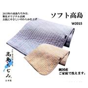 【日本製】シングルソフト高島ちぢみ敷パッド  ご家庭で丸洗い出来ます。 吸湿・発散性に富み、暑苦しい夏に最適天然素材が良眠を誘います。