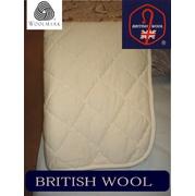 【日本製】(送料無料)ブリティッシュウール100%ウール敷パッド シングル 英国羊毛、オールシーズン使えます。洗えます 105×200cm 吸湿・発散性に優れる